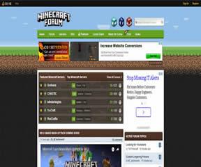 国外网站 Minecraft论坛 界面