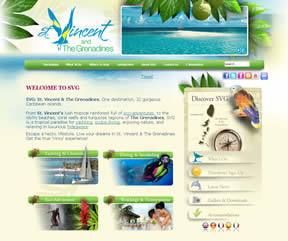 圣文森特和格林纳丁斯旅游局官方网站