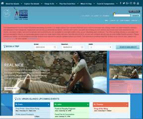 美属维尔京群岛旅游局官方网站