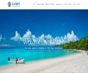 国外网站 基里巴斯旅游局 界面