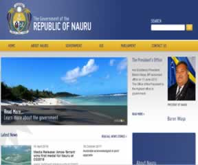 国外网站 瑙鲁政府网 界面