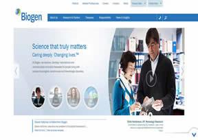 国外网站 渤健生物|Biogen 界面