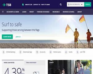 国外网站 新西兰塔拉纳基储蓄银行 界面