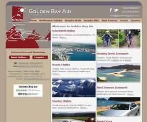 国外网站 Golden Bay Air|黄金湾航空 界面